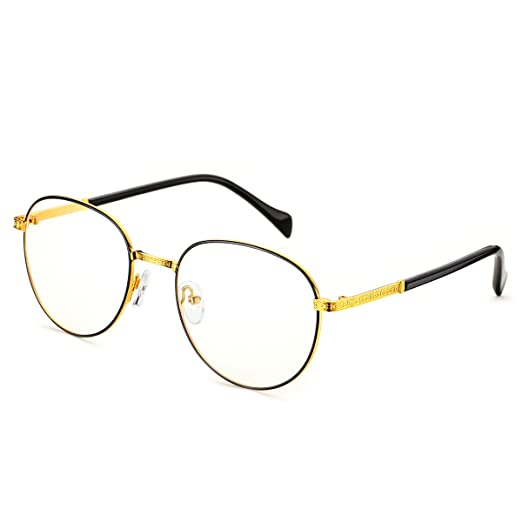 34a7392e3d Amazon.com  PenSee Optical Frames Metal Unique Designer Oval Round ...