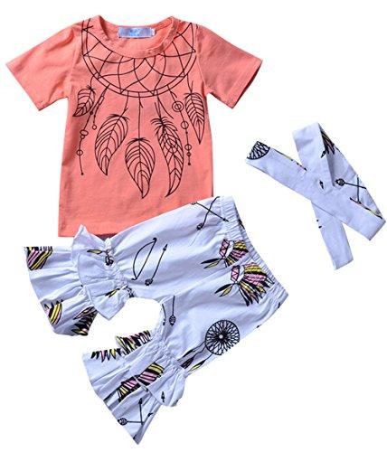 98e8e210c3 Clearance Sale!! 3Pcs/Set Fashion Toddler Kids Baby Girl T-Shirt Top ...