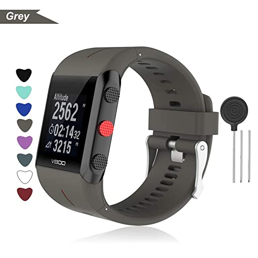 Bemodst Armband für Polar V800 Smart Watch, Silikon Uhrenarmband Ersatz Zubehör Uhrenarmbänder Sport Handgelenk Ersatzband Uh