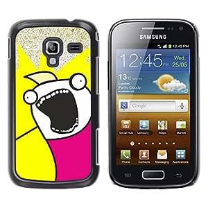 LECELL--Funda protectora / Cubierta / Piel For Samsung Galaxy Ace 2 -- Funny Face Troll Meme Wtf --