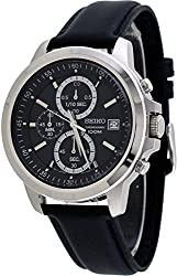 Seiko Chronograph Stainless Steel Black Dial Male Watch SKS453