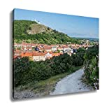 Ashley Canvas, Holy Hill With Saint Sebastian Chapel In Mikulov Town In Czech Republic, Home Decoration Office, Ready to Hang, 20x25, AG6006445