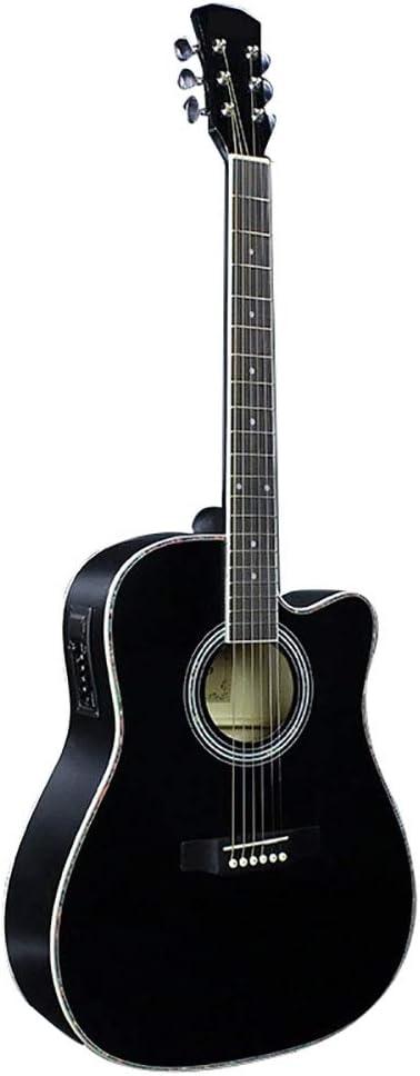 41 Pulgadas Guitarra Acústica EQ Guitarra De Tilo Guitarra Negra ...