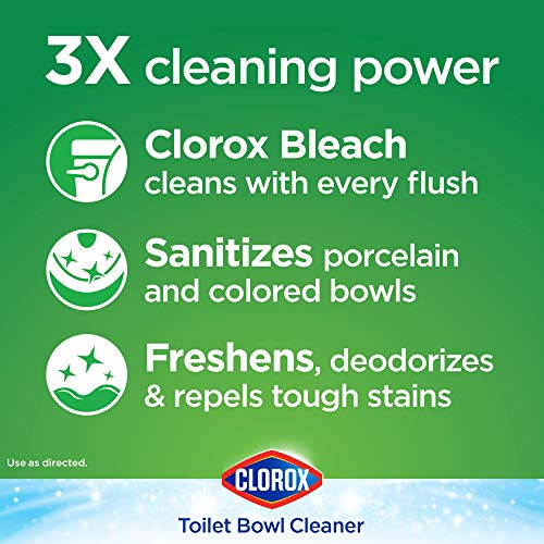 Clorox Automatic Toilet Bowl Cleaner Tablets with Bleach 3.5 Ounces Each, 2 Count (30024) (Packaging May Vary)