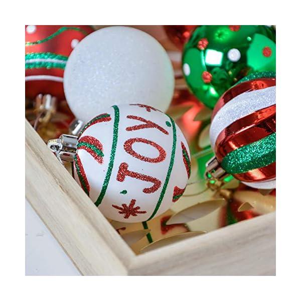 Valery Madelyn Palle di Natale 30 Pezzi 6cm Palline di Natale, Collezione Classica Rosso Verde e Bianco Infrangibile Ornamenti di Palla di Natale Decorazione per la Decorazione Dell'Albero di Natale 6 spesavip