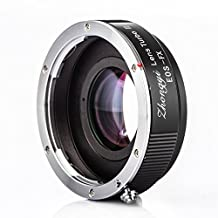 ZHONGYI Turbo II Focal Reduce Light Intensify Lens Adapter Suitable for Canon EOS Lenses for Camera Fuji FX Pro1 X-E1 X-E2 X-M1 X-A2 X-A1 X-T1