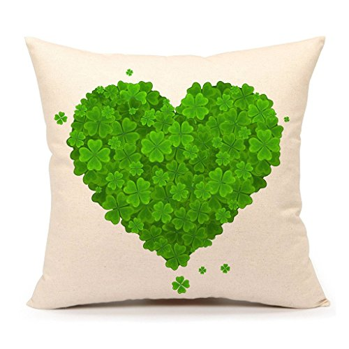 4TH Emotion St. Patricks Day Green Home Decor Throw Pillow Case Cushion Cover