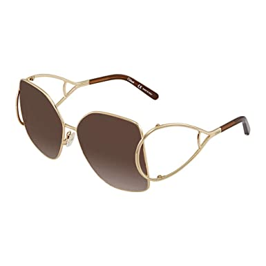 04507e4087b Sunglasses CHLOE CE 135 S 743 GOLD BROWN at Amazon Men s Clothing store