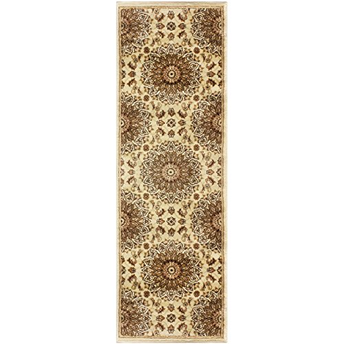 Gold Medallion Collection - Superior Marigold Collection Area Rug, Intricately Detailed Gold Medallion Pattern, 10mm Pile Height with Jute Backing, Affordable Contemporary Rugs - 2'7