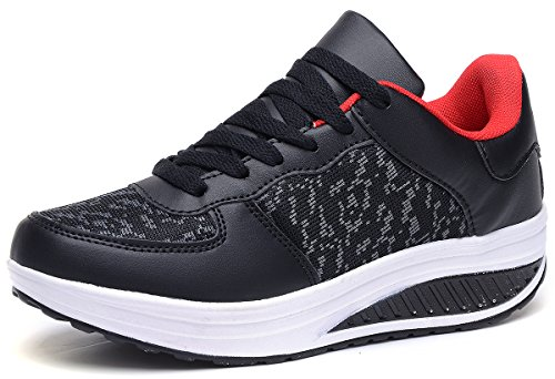 Sneakers Femme Style Odema Sport Respirante Chaussures Fitness Course Noir Running Lacet Gym Baskets Multicolore Rouge Jogging znqHOw8z