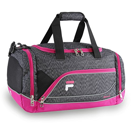 Fila Sprinter Small Duffel Gym Sports Bag, Static Pink, One Size