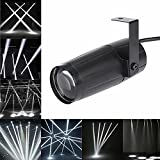 LED Beam Pinspot Light KINGSO 3W Mini Stage Lights DJ Spotlight Track Lighting DIY Different Colors of Light for Family Party Club Cinema KTV Theater Concert Wedding Outdoor Show - Pure White