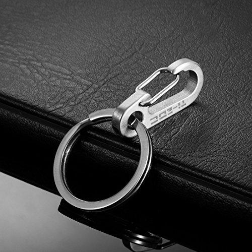 [해외]TI-EDC 티타늄 미니 퀵 릴리스 키 체인 카라비너 ??스냅 후크 및 키 링/TI-EDC Titanium Mini Quick Release Keychain Carabiner Snap Hook and Key Ring