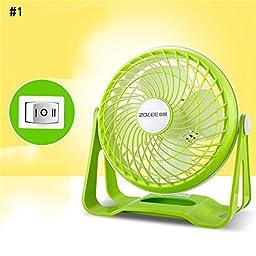 TOYM US- USB desktop small fan mini fan mute student dormitory office computer desk fan ( Color : #1 )