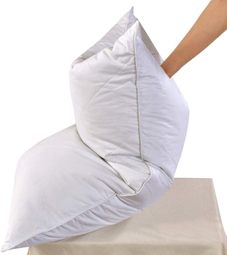 white goose feather bed pillow 600 thread count egyptian cotton medium firm soft support queen size white solid queen size one pillow