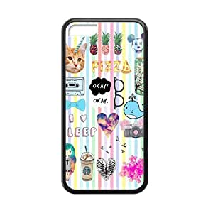 Canting_Good Quotes logos Stickers Tumblr Custom Case Cover Shell for iPhone 5C TPU (Laser Technology)