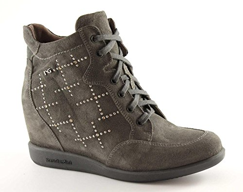 NERO GIARDINI 1622 carbone scarpe donna sportive zeppa interna