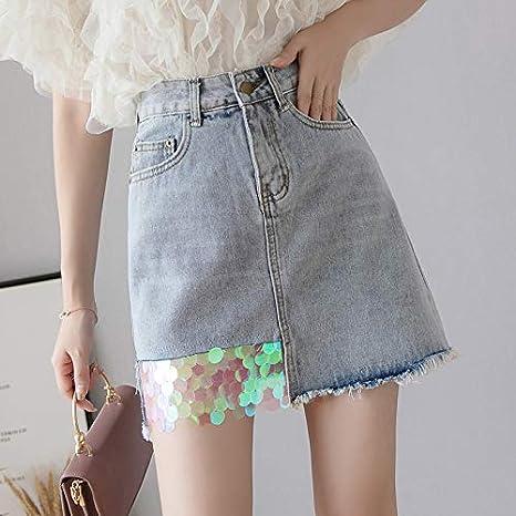 DWWAN Falda Corta Faldas para Mujer Moda Patchwork Falda de ...
