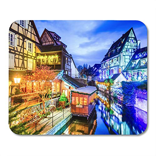 Emvency Mouse Pads Alsacia Colmar Alsace France Gingerbread Houses Add Christmas Mouse Pad for notebooks, Desktop Computers mats 9.5