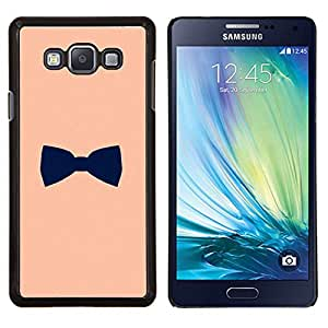 LECELL--Funda protectora / Cubierta / Piel For Samsung Galaxy A7 A7000 -- bowtie diseño caballero melocotón negro --