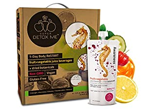 SUPER DETOX ME 1 Day Body ReSTART Juice Cleanse, Purify and Debloat, 8 Juices