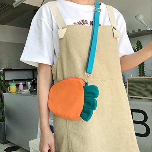 Carrot Cute Clutch Orange Messenger Zipper Handbag Women Widewing Canvas Girl Shoulder Kids 5aU4qT4