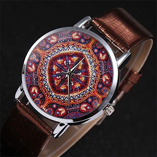 Amazon.com: WoCoo Fashion Boho Pattern Dress Analog Quartz Wrist Watch with Leather Mesh Band Watches Gifts for Women(Black): Kitchen & Dining
