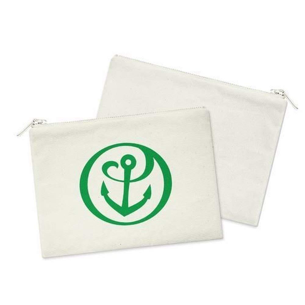 Amazon com : Alpha Sigma Tau AST Mascot Cosmetic Bag White w/Green