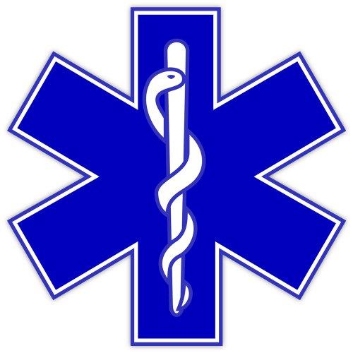 Star of Life EMS EMT paramedics sticker decal 4