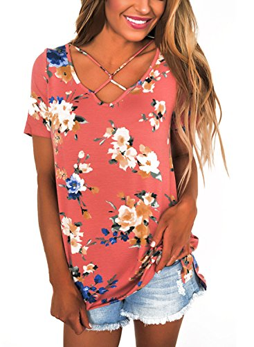 Dokotoo Womens Casual Crisscross Blouses product image