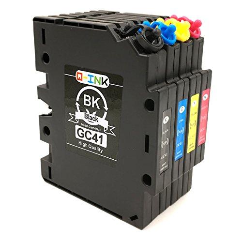 qink-4-pack-bk-c-m-y-gc-41-transfer-sub-ink-cartridges-for-ricoh-aficio-sg2100-sg3110dn-sg2010-heat-