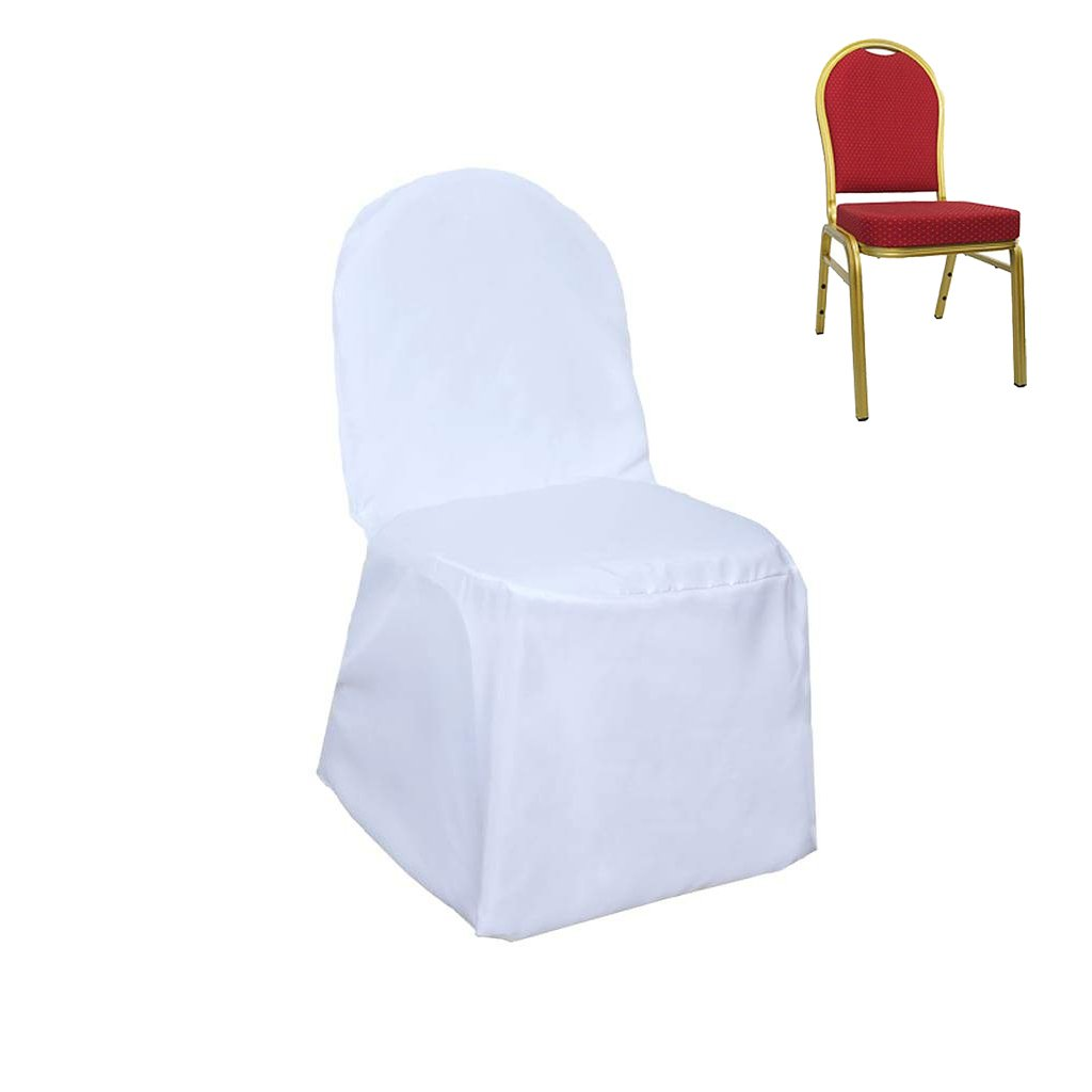 Efavormart 50pcs White Polyester Banquet Chair Cover For Wedding Party Events by Efavormart