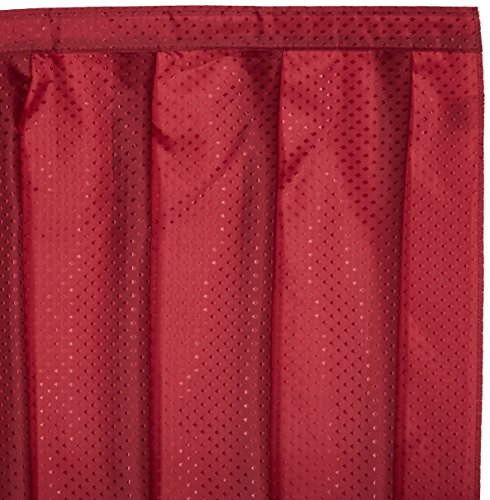 Sink Skirt - Carnation Home Fashions Lauren Dobby Fabric Sink Skirt, 54-Inch by 32-Inch, Burgundy