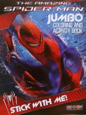 The Amazing Spider-Man Jumbo Coloring & Activity Book ~ Stick with - Amazing Light Spider Man