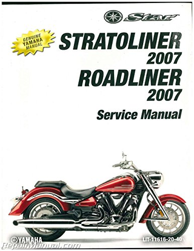 LIT-11616-20-40 2007 Yamaha XV19 Road Liner and Stratoliner Service Manual -  Yamaha Motors