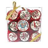 Snow Bites Gift Box – 9 Gourmet Christmas Cups Dog Treats
