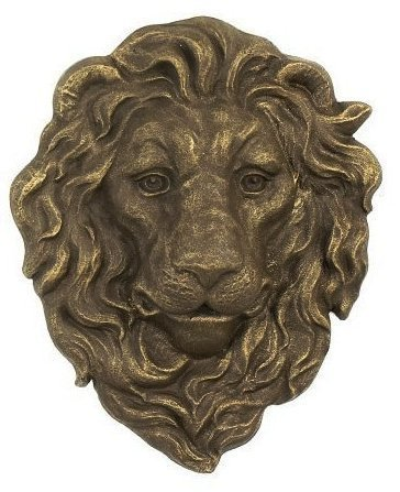 Cast Iron Lion Head Hanging Garden Plaque
