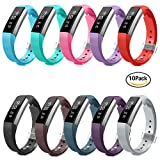 Fitbit Alta HR and Alta Bands, Greeninsync Fitbit Alta Replacement Bands Small Wristband Adjustable Smart Watch Strap for Fitbit Alta Accessory Band w/ Metal Clasp and Ultrathin Fastener(10pack)