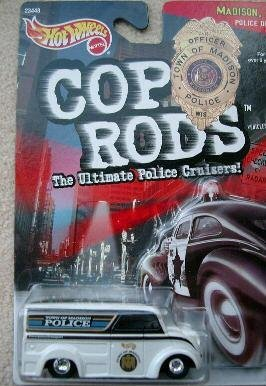 Wheels Hot Cop Rods - Mattel Hot Wheels Cop Rods Dairy Delivery Police Truck 1:64 Scale Die Cast Car