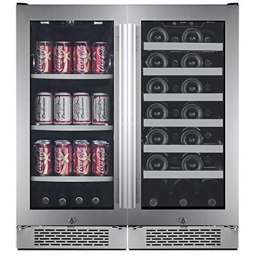 Avallon AWBV8627 27 Bottle + 86 Can Side-by-Side Wine & Beverage Center ()
