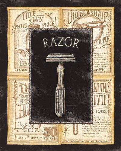 Framed Grooming Razor Bed & Bath Vintage Advertisement Ba...