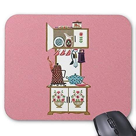 "Ratón para videojuegos Vintage Retro cocina estufa cafetera Pot Rectángulo oficina Mousepad 9 ""x"