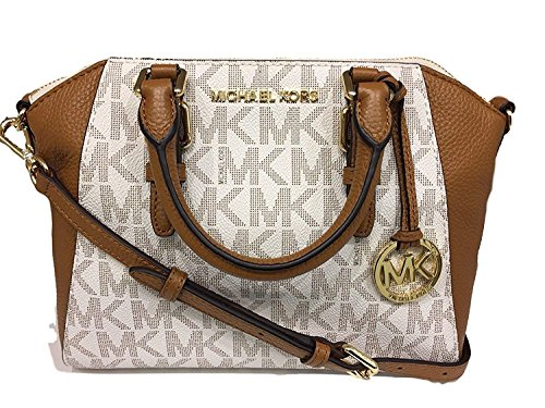 Michael Kors Ciara Medium Messenger Bag (Vanilla Acorn)