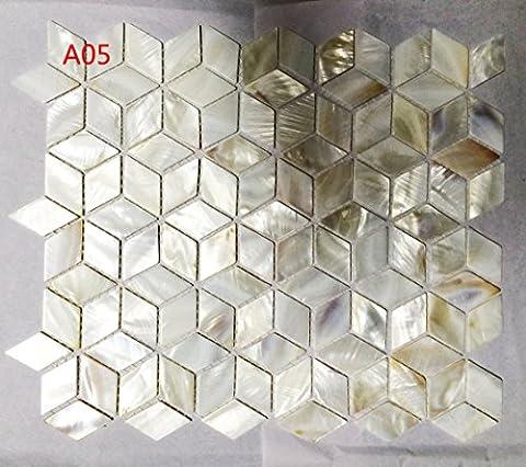 CHOIS Wholesale Mother of Pearl Shell Backsplash Tile Mosaic Bathroom Walls A05 Sample 4