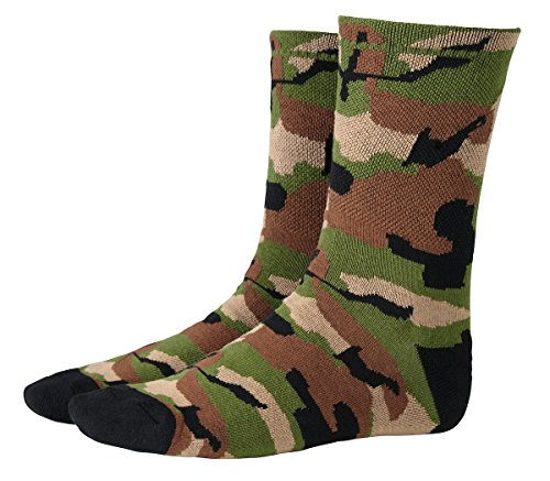 Ecycle Men's Camo Cycling Socks Large Camouflaged by eCycle