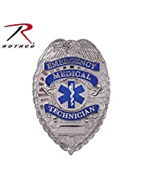 Rothco EMT Deluxe Badge, Silver