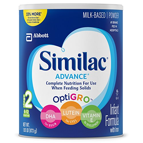 Similac Advance Infant Formula, Stage 2, Powder, 30.8 Ounces (Pack of 4)