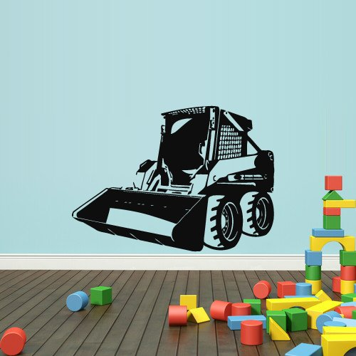 Loader Bulldozer (Wall Decal Vinyl Sticker Decals Tractor Loader Bulldozer Kids (Z1983) by StickersForLife)