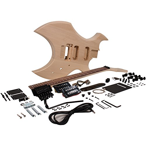 Seismic Audio - SADIYG-16 - Premium Warlock Style DIY Electric Guitar Kit - Unfinished Luthier Project Kit
