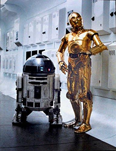 Star Wars Keilrahmen Bild 50x70cm auf Leinwand (Nr.1 R2D2 & C3PO)